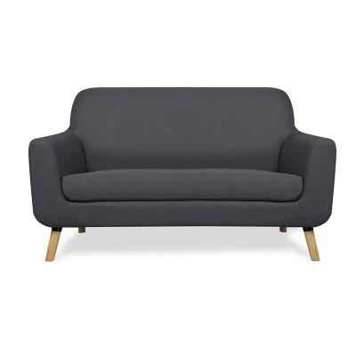 Sofa 2 plazas gris oscuro