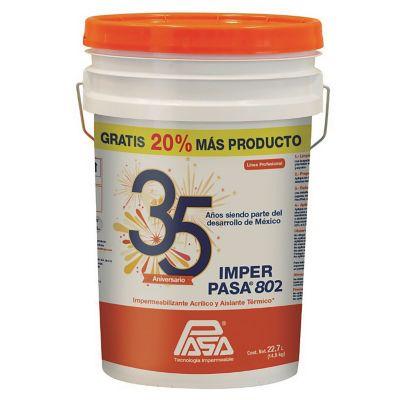 Impermeab acrilico imperpasa802 rojo cubetón 23L