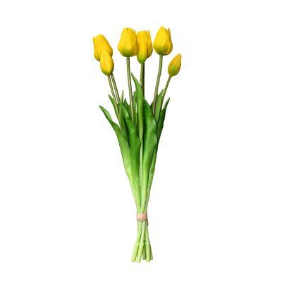Bouquet De Tulipanes Amarillos Artificial