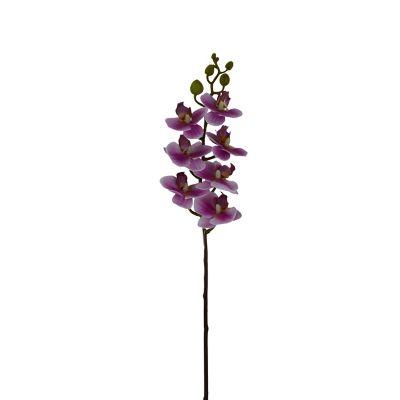 Orquidea Phaleanopsis Mini Tacto Natural Morado Artificial