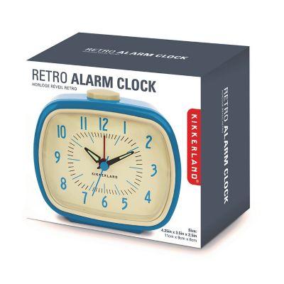 Reloj retro con alarma azul