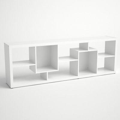 Librero engrosado con divisiones blanco