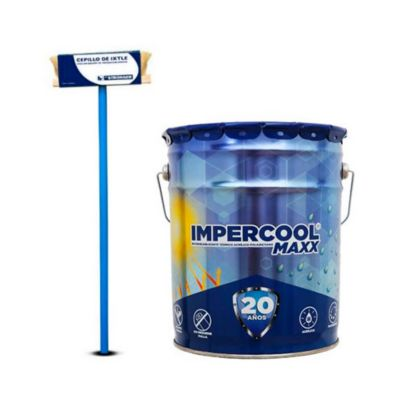 Combo  Impermeabilizante térmico acrílico-poliuretano, 20 años. + Cepillo aplicador para impermeabilizantes