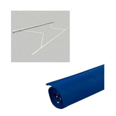 Combo  Estruc toldo 3.95x2.50mt s/cob + Tela Toldo Azul 3.95X2.5