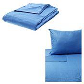 Juego de sábanas 1.5 plazas azul 132 hilos