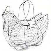 Porta huevos gallina
