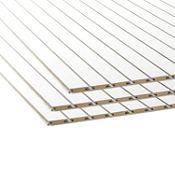 Tablero de MDF Ranurado Blanco 18 mm 1.52 x 2.44 m