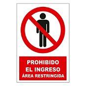 Señal prohibido ingreso área restringida