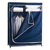 Closet de tela azul 120x50x160