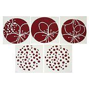 Mosaico flores y puntos
