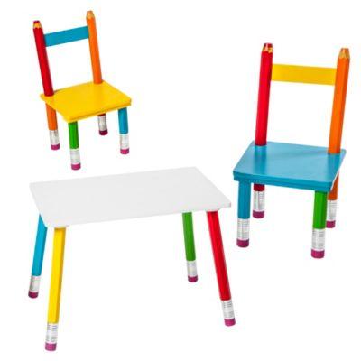 Set de mesa l pices 60x40cm y 2 sillas home collection for Sillas de escritorio sodimac
