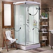 Cabina de ducha 90x90cm con ducha espa ola y 6 hidrojets - Cabina de duchas ...