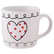 Mug 9oz porcelana corazones