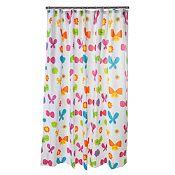 Cortina de baño Mariposas 178x180cm