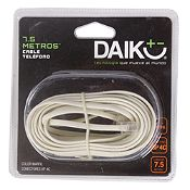 Cable Teléfono Plano 7.5 m