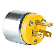 Enchufe 2P+T 15A 125V L/T PVC Amarillo