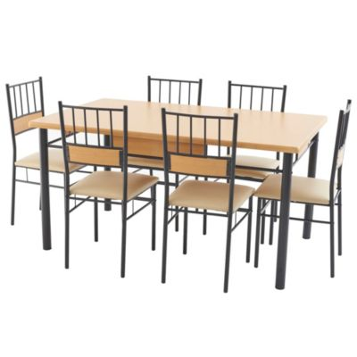 Comedor asunci n 6 sillas for Sillas ergonomicas sodimac