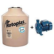 Combo Tanque de Agua 1100 L + Bomba Centrífuga 1 HP