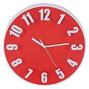 Reloj de pared rojo 30cm