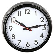 Reloj de pared negro 38cm