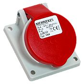 Base Semiempotrable 16A 2P/T400V Rojo