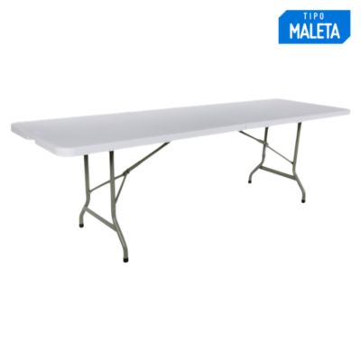 Mesa plegable tipo maleta 244x74cm for Mesa plegable falabella