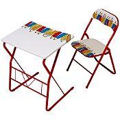 Escritorio + silla plegable Lápices