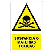 Señalización Sustancias Tóxicas 15x22.5cm