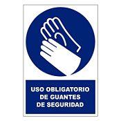 Stickers de Señalización Uso de Guantes 20 x 30 cm
