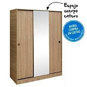 Ropero 2 puertas corredizas con espejo Vittro