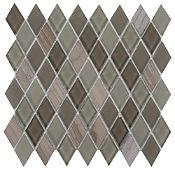 Malla decorativa 30x30cm Diamante Marrón