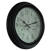 Reloj Estaciones negro 30cm