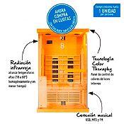 Cabina de sauna seco 120 x 105 x 190 cm
