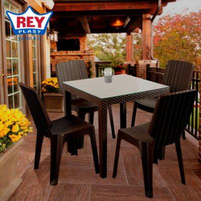 Combo mesa y 4 sillas tavar a for Sillas ergonomicas sodimac