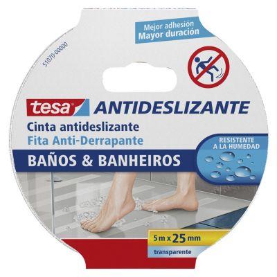 WOVELOT Bath 5 x 25 mm dise/ño de Cinta de Seguridad Color Blanco Cinta Antideslizante Antideslizante para Ducha