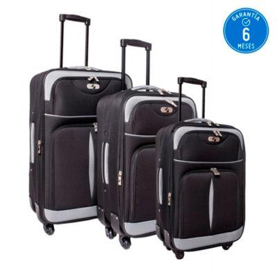 896fb55e8 Set de 3 maletas negras - Karson - 2461676