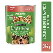 Dog Chow Adultos pollo y verduritas 374gr