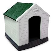 Casa para perro techo verde