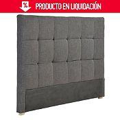 Respaldar de cama negro 200x120x11 cm