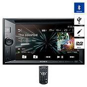 Radio Doble Din Bluetooth/USB/DVD