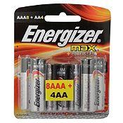 Pack de Pilas Energizer Max AAA x 8 + AA x 4