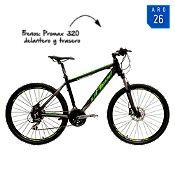 Bicicleta Vanguard300 negro y verde Aro 26¨