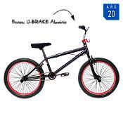 Bicicleta Aro 20'' Spine Negro y Rojo