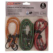 Pack 6 Piezas Cuerdas Elásticas con Ganchos 8 mm