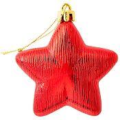 Set de 8 adornos estrella 8cm