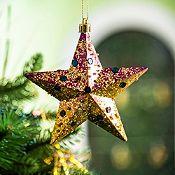 Set de 5 estrellas doradas 10cm