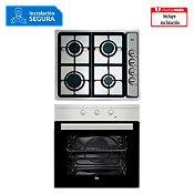 Combo Cocina empotrable 4 quemadores EP604GAICI + Horno eléctrico 62L HS 445