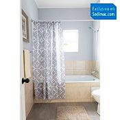 Cortina de baño Vintage 182x182cm