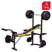Banco de ejercicios con pesas