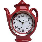Reloj Tetera roja 24cm